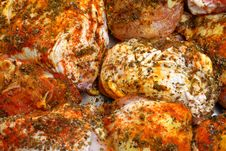 Free Fat Spiced Grilled Chicken Stock Photography - 19561772