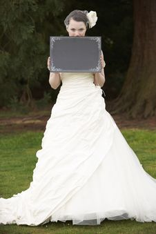 Free Bride And Blank Board Royalty Free Stock Photos - 19566188