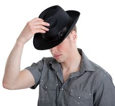 Free The Guy In The Black Hat Stock Photos - 19566853
