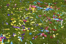 Free Wedding Confetti Scattered On Grass Royalty Free Stock Images - 19566949