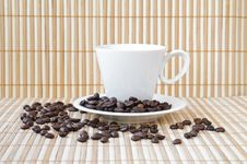 Free Cup With Coffee Beans Stock Images - 19567064