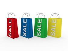 Free 3d Sale Bag Colorful Stock Photography - 19567082