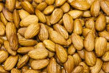 Almonds In Honey Royalty Free Stock Image