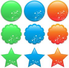 Stickers Royalty Free Stock Images