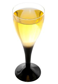 Glass Of White Wine Royalty Free Stock Photos