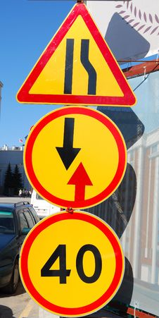 Free Three Traffic Signs Stock Photography - 19568322