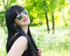 Free Beautiful Young Woman Wearing Sunglasses Royalty Free Stock Photography - 19568377