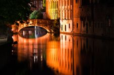Brugge By Night Royalty Free Stock Photos