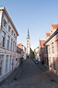 Street In Brugge Stock Photo