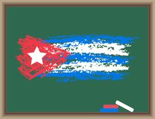 Free Flag Of Cuba On A Blackboard Royalty Free Stock Images - 19568629