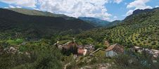 Free Village In Mountain Valley In Andalusia, Spain Stock Photo - 19568670