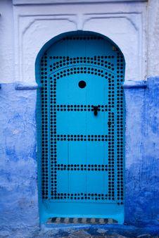 Chefchaouen Blue Doors Stock Image