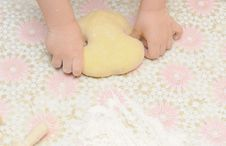 Free Child S Hands Kneading Dough Stock Image - 19569241