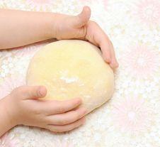 Free Child S Hands Kneading Dough Stock Photos - 19569313