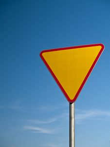 Free Warning Road Sign Stock Photo - 19569430