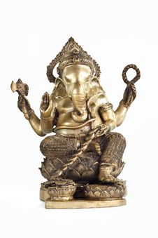 Golden Hindu God Ganesh Royalty Free Stock Photos