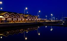 Free Marina By Night Stock Photography - 19569762