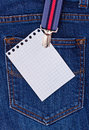 Free Place For Your Text On A Jeans Royalty Free Stock Photo - 19576335