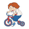 Free Boy Riding Bicycle Royalty Free Stock Photography - 19578337