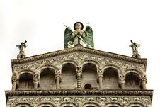 Free Angel Statues, Lucca Italy Cathedral Stock Photo - 19570490