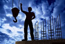 Free Silhouette Of A Worker Stock Images - 19570694