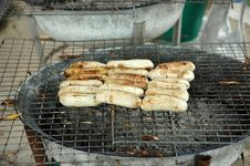 Free Local Fried Bananas Hot Grill Royalty Free Stock Photos - 19571058