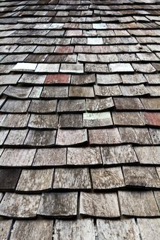 Free Old Worn Shingle Roof Pattern Royalty Free Stock Images - 19571289