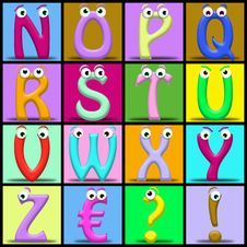 Free Cartoon Alphabet Stock Images - 19572184
