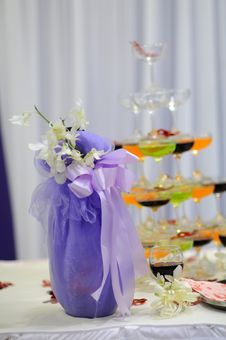 Champagne At The Wedding Stock Photography