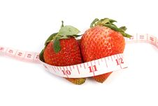 Free Strawberry Fresh And Tape Measure Royalty Free Stock Photography - 19572807