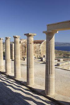 Free Lindos Acropolis Stock Images - 19572824