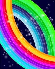 Free Abstract Colorful Waves Stock Images - 19573484