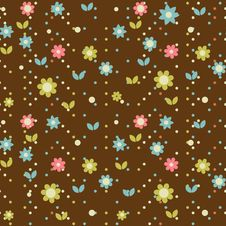 Free Floral Seamless Pattern Royalty Free Stock Photography - 19573567