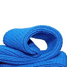 Free Knitted Blue Cloth Close Up Royalty Free Stock Images - 19574529