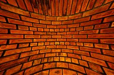 Free Old Orange Brick Wall Texture Blast Out Royalty Free Stock Photography - 19574807