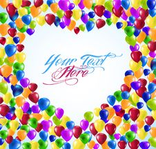 Free Heart Shape Balloons Royalty Free Stock Photography - 19575017