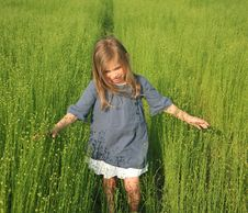 Free Girl And Linen Stock Image - 19575251