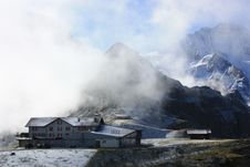 Free Hill Station On Top Of Swiss Alps Royalty Free Stock Image - 19575536