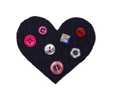 Heart From A Fabric And Buttons Royalty Free Stock Photography