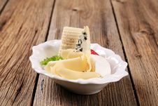 Selection Of Cheeses Royalty Free Stock Photography