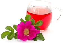 Free Wild Rose Flower And Tea Stock Photography - 19575862