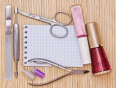Free Accessories To Manicure Royalty Free Stock Image - 19576016