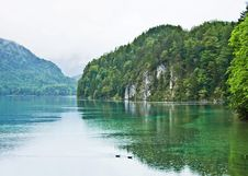 Free Alpsee, In Rainy Day Stock Photography - 19576152