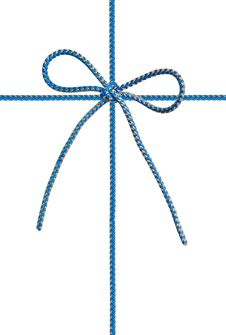 Free Bow From A Blue Cord Royalty Free Stock Image - 19576256
