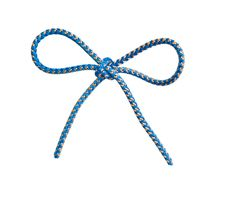 Bow From A Blue Cord Royalty Free Stock Photos