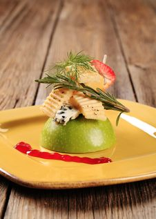 Free Cheese Appetizer Royalty Free Stock Photos - 19576268