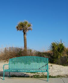 Bench At The Beach Stock Photography