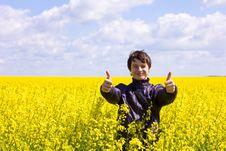 Free Happy Teenager On Flourishing Field Royalty Free Stock Photo - 19576705