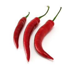 Free Three Chili In Row Royalty Free Stock Image - 19577176