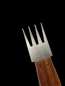 Free Fork With Wooden Handle Isolated Stock Photo - 19577180